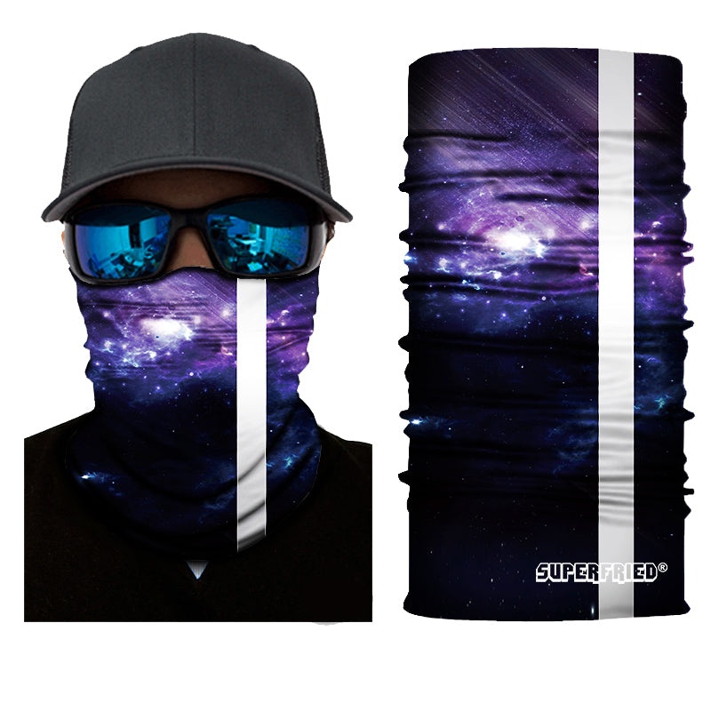 Rising Midnight Rave Face Mask Bandana - SuperFried