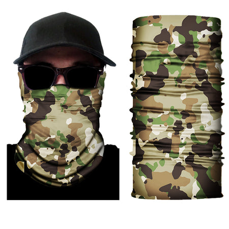 camo army face mask green