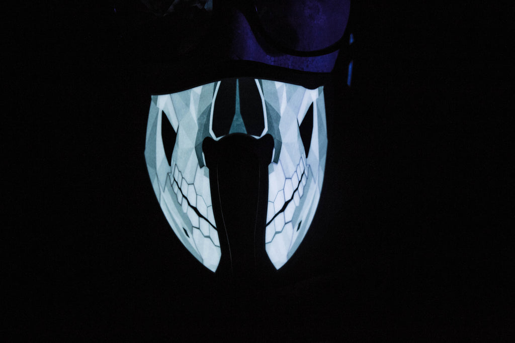 Skull Led Light up Panel Mask