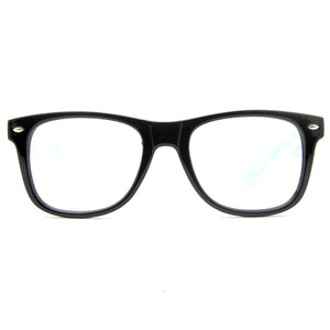 Black Clear Firework Diffraction Glasses - SuperFried