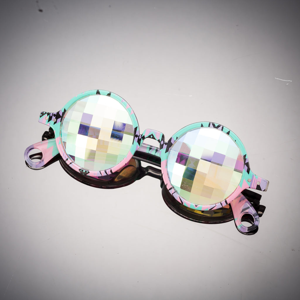 Intense Diamond Kaleidoscope Effect rainbow crystal lens Sunglasses Women Men Party Festival  Glasses at SuperFried's Festival Accessories and Sunglasses Online store