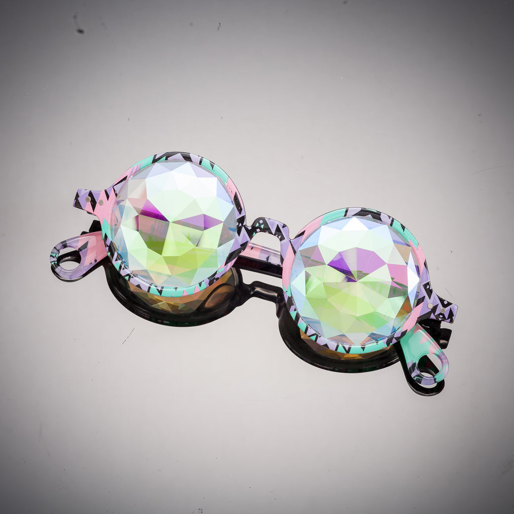 Aztec Diamond Kaleidoscope Glasses - SuperFried