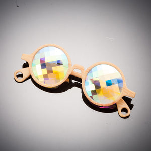 Bamboo Bug Eye Kaleidoscope Glasses - SuperFried