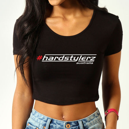 Crop Tops - Hardstylerz Black Sleeve Crop Top