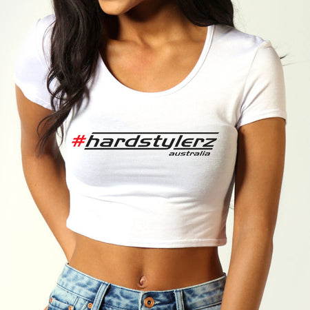 Crop Tops - Hardstylerz White Sleeve Crop Top