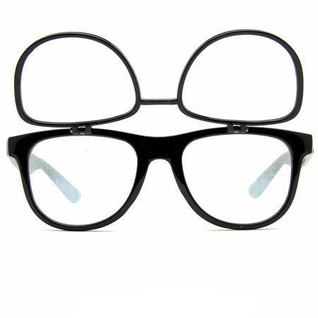 Double Diffraction - Double Black Firework Wayfarer Diffraction Glasses