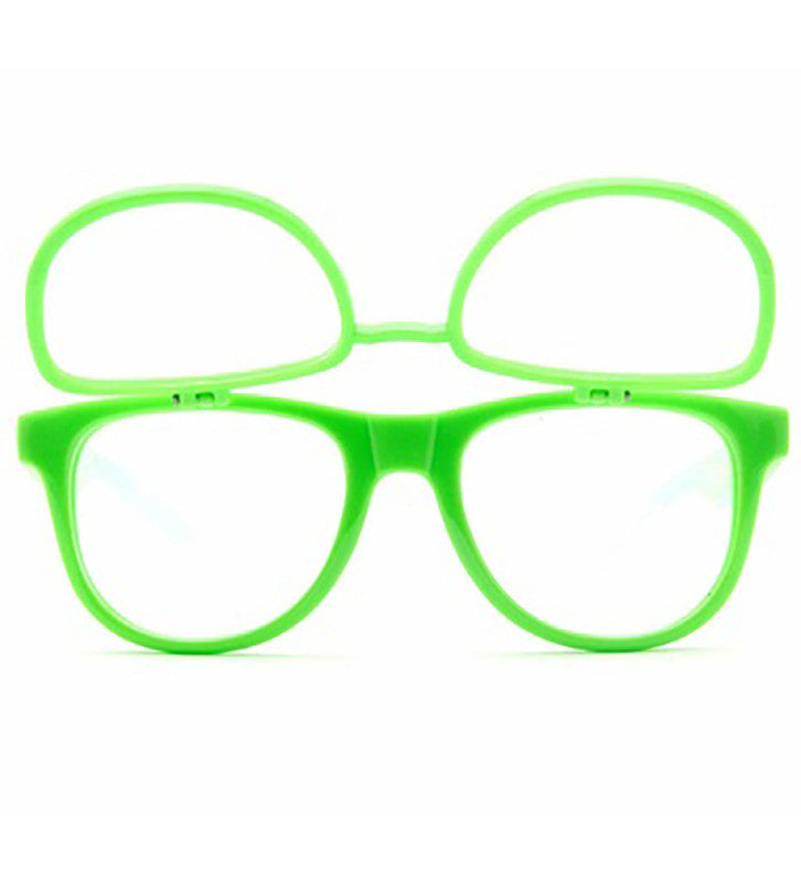 Double Diffraction - Double Green Firework Wayfarer Diffraction Glasses