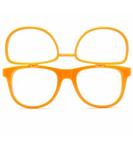 Double Diffraction - Double Orange Firework Wayfarer Diffraction Glasses