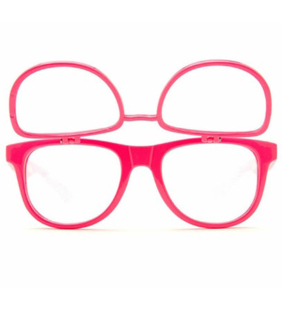 Double Diffraction - Double Pink Firework Wayfarer Diffraction Glasses