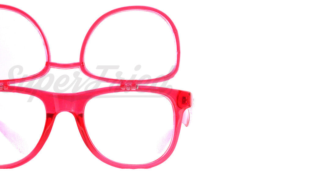 Double Transparent Red Firework Diffraction Glasses - SuperFried