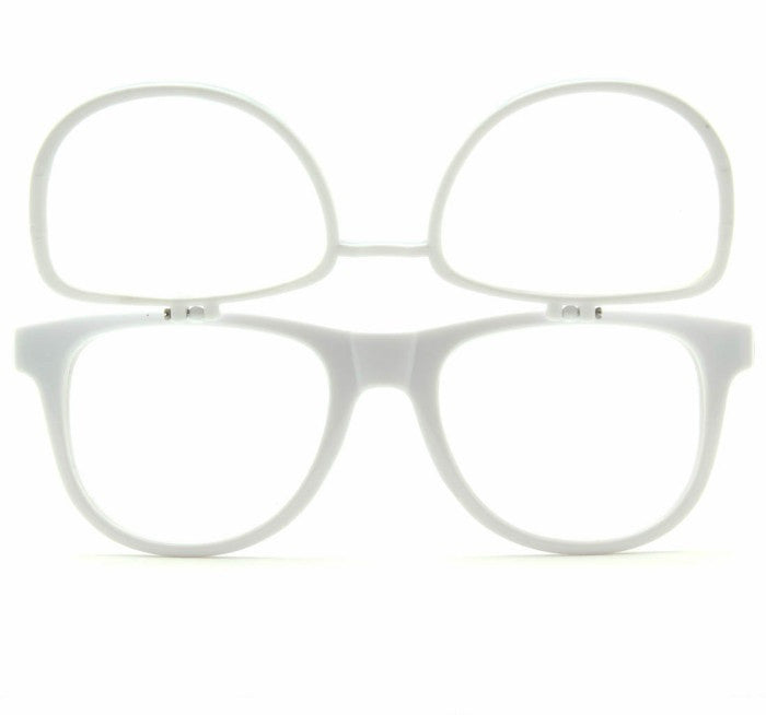 Double Diffraction - Double White Firework Wayfarer Diffraction Glasses