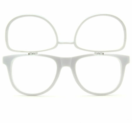 Double White Firework Diffraction Glasses - SuperFried