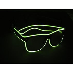 Glow Green Light Up El Wire Sunglasses - SuperFried