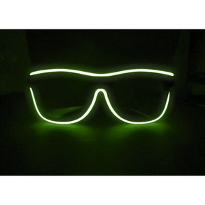 green light up el wire glasses led