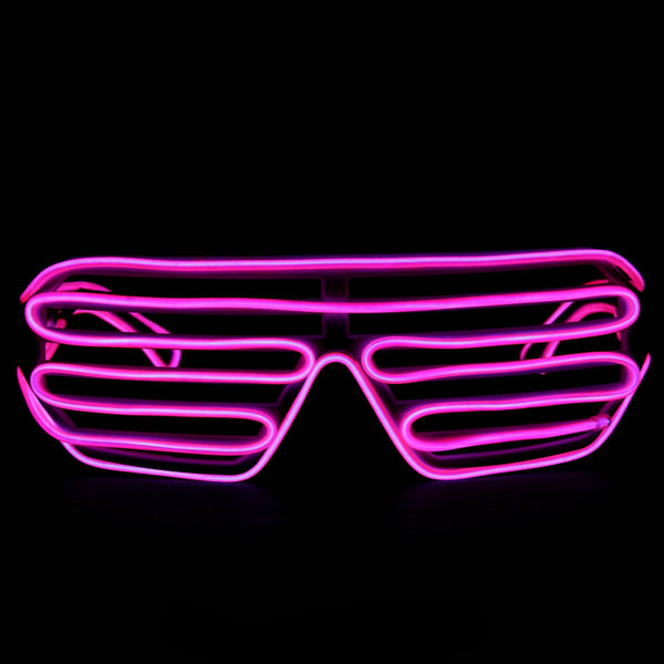 0b11a60e2e4 Pink Light Up El Wire Shutter Glasses – SuperFried