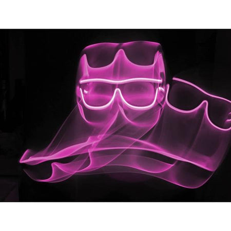 Pink Light Up El Wire Diffraction Glasses - SuperFried