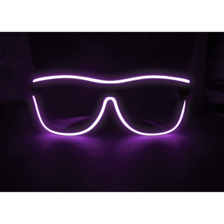 Purple Light Up El Wire Sunglasses - SuperFried