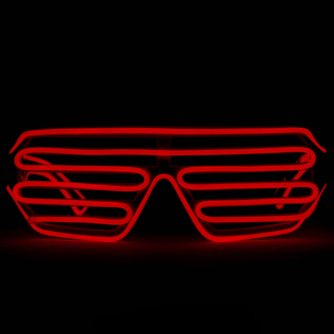 EL Wire Glasses - Red Light Up El Wire Shutter Glasses