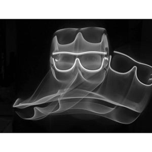 White Light Up El Wire Diffraction Glasses