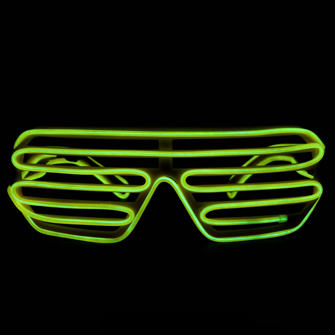 EL Wire Glasses - Yellow Light Up El Wire Shutter Glasses