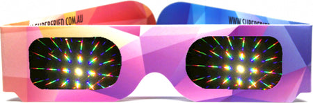 Rainbow Firework Paper Diffraction Glasses - Original Abstract