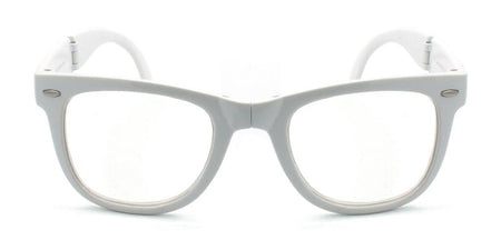 Foldable Glasses - White Clear Firework Foldable Wayfarer Diffraction Glasses
