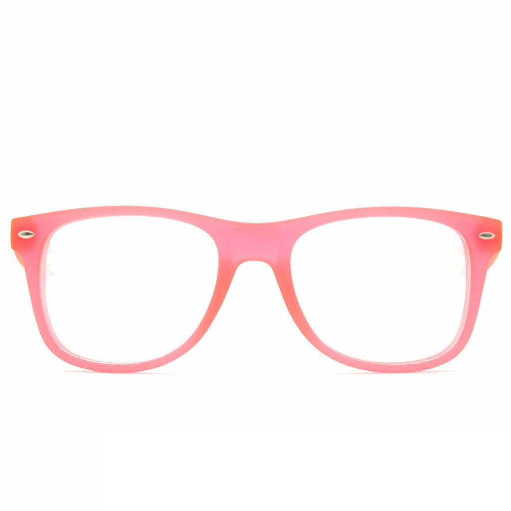 Glow Pink Clear Firework Diffraction Glasses - SuperFried