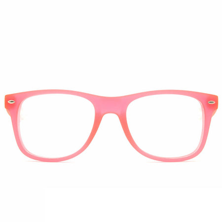Glow In The Dark - Glow Pink Clear Firework Wayfarer Diffraction Glasses