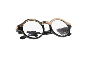 Luxe Semi Gold Kaleidoscope Glasses - SuperFried