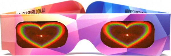 Heart Effect Paper Diffraction Glasses - Original Abstract - SuperFried