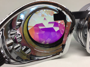 Chrome Kaleidoscope Goggles - SuperFried