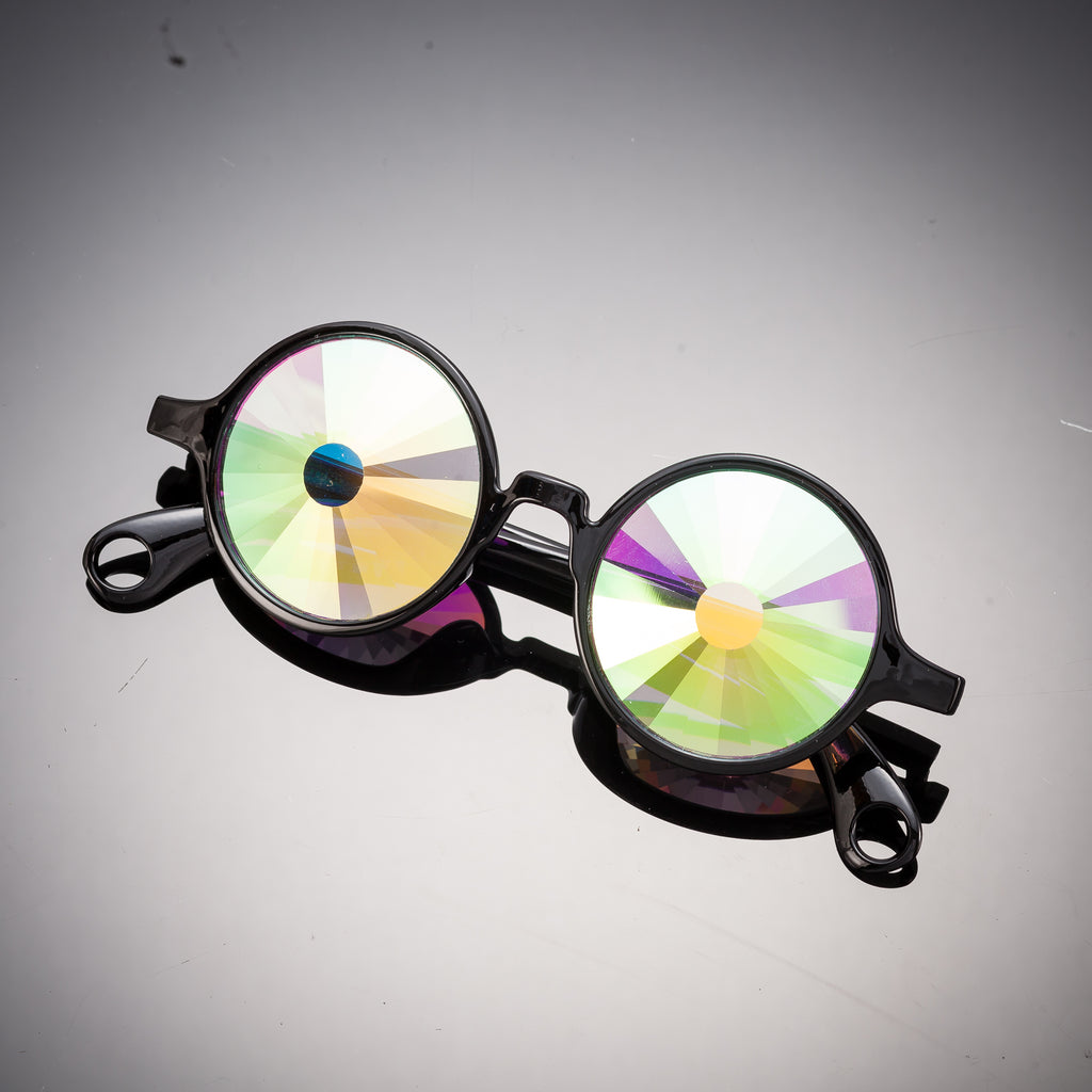 Black Portal Kaleidoscope Glasses - SuperFried