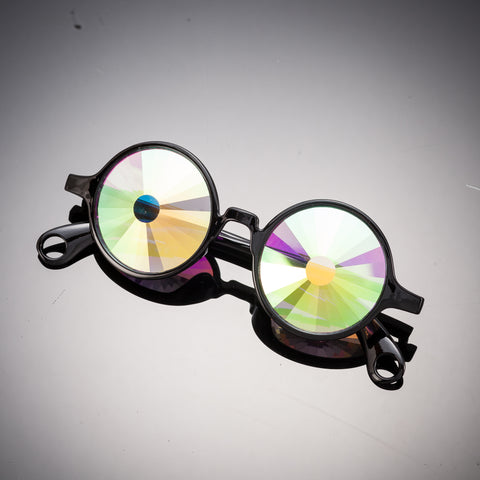 black portal kaleidoscope glasses intense visuals effects eyewear