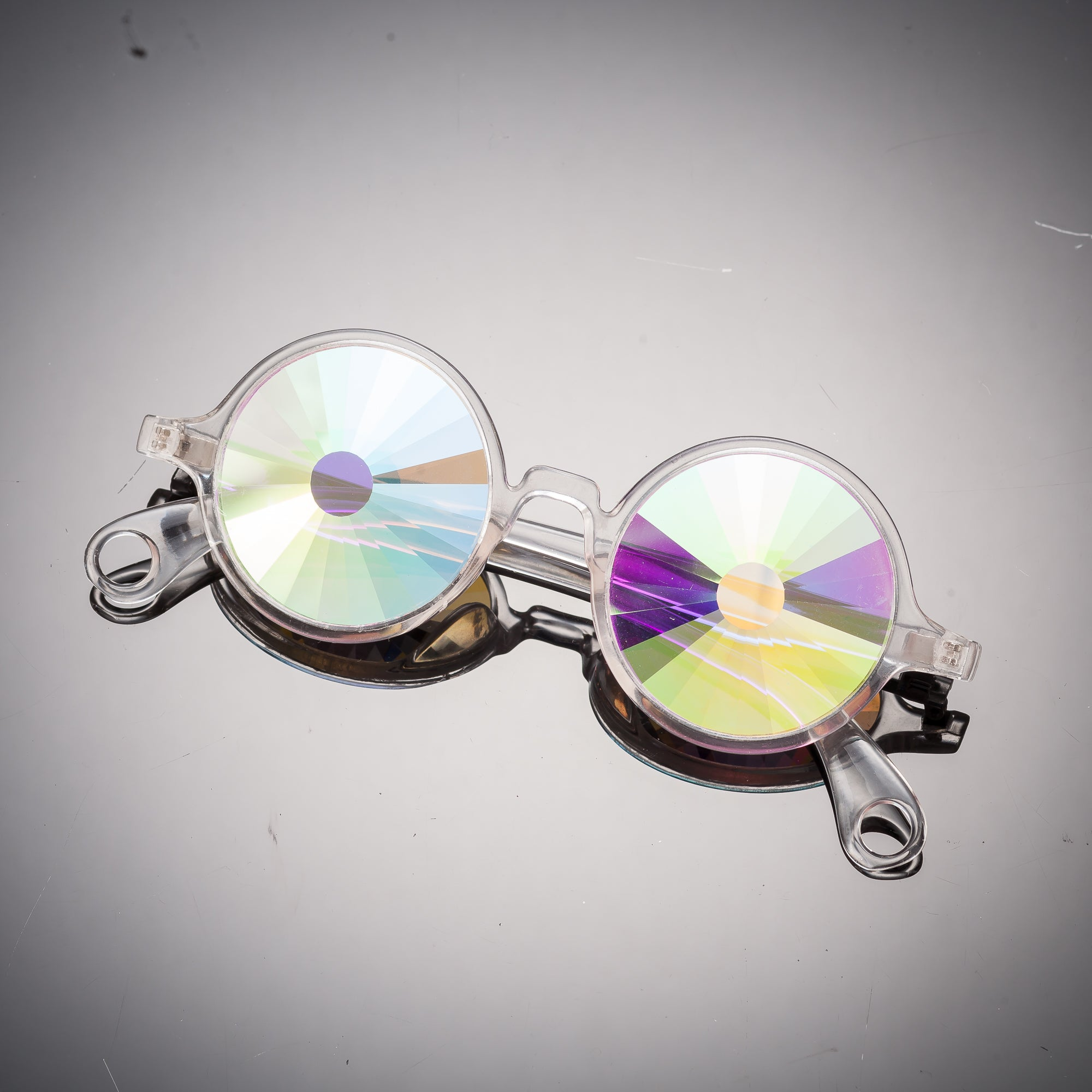 Clear Portal Kaleidoscope Glasses - SuperFried