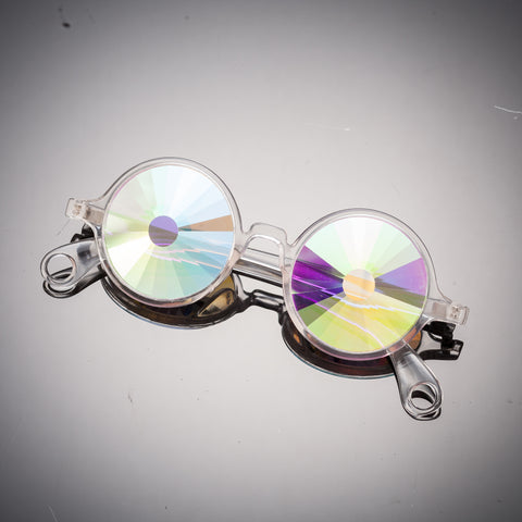 clear frame portal kaleidoscope prism intense visual effects glasses eyewear