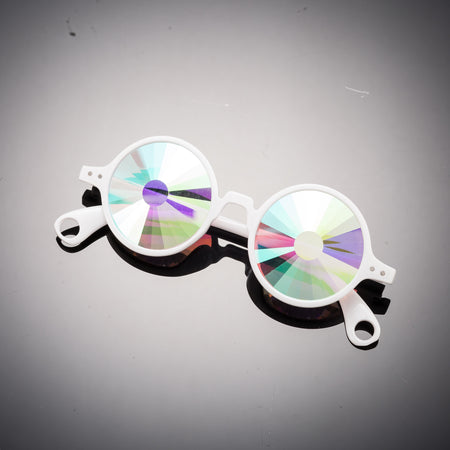 Intense Diamond Kaleidoscope Effect rainbow crystal lens Sunglasses Women Men Party Festival Pinhole Portal Glasses at SuperFried's Festival Accessories and Sunglasses Online store