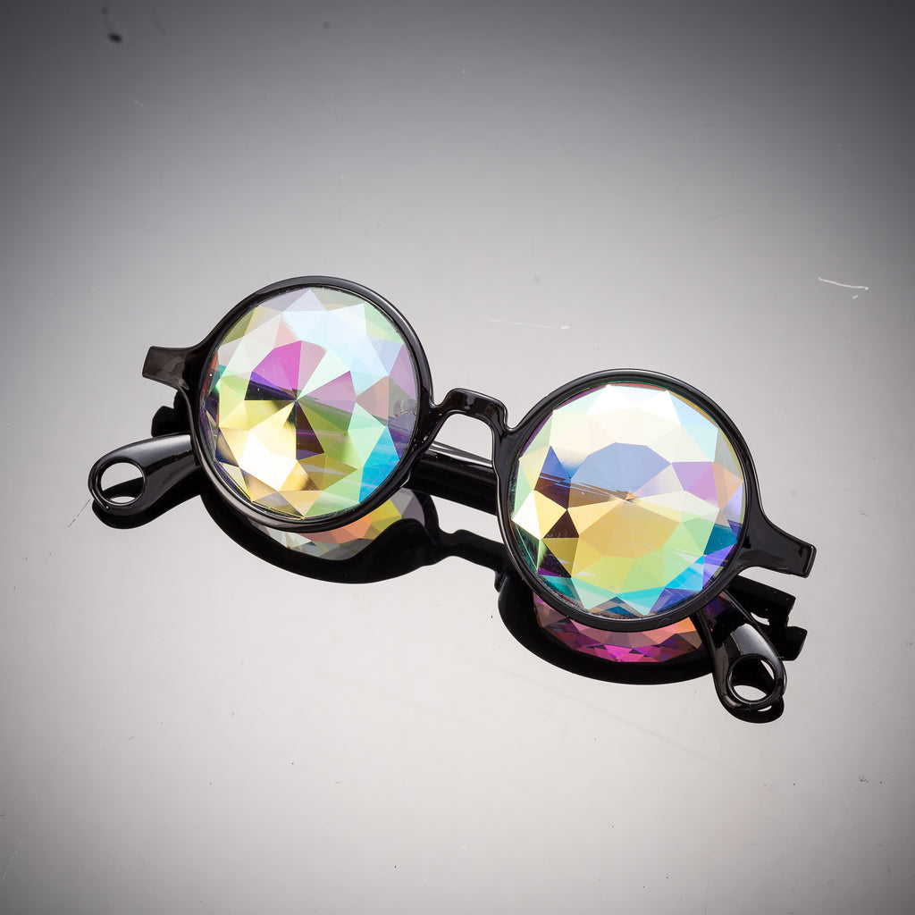 Intense Black Diamond Kaleidoscope Effect rainbow crystal lens Sunglasses Women Men Party Festival  Glasses at SuperFried's Festival Accesories and Sunglasses Online store