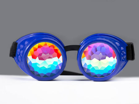 Blue Kaleidoscope Goggles - SuperFried