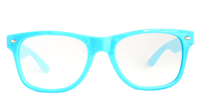 SuperFried Blue Clear Firework Diffraction Glasses