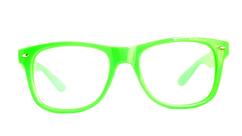 Green Clear Firework Diffraction Glasses - SuperFried