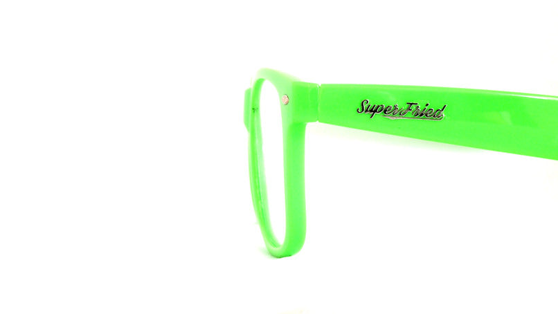 Single Lens - Green Clear Firework Wayfarer Diffraction Glasses