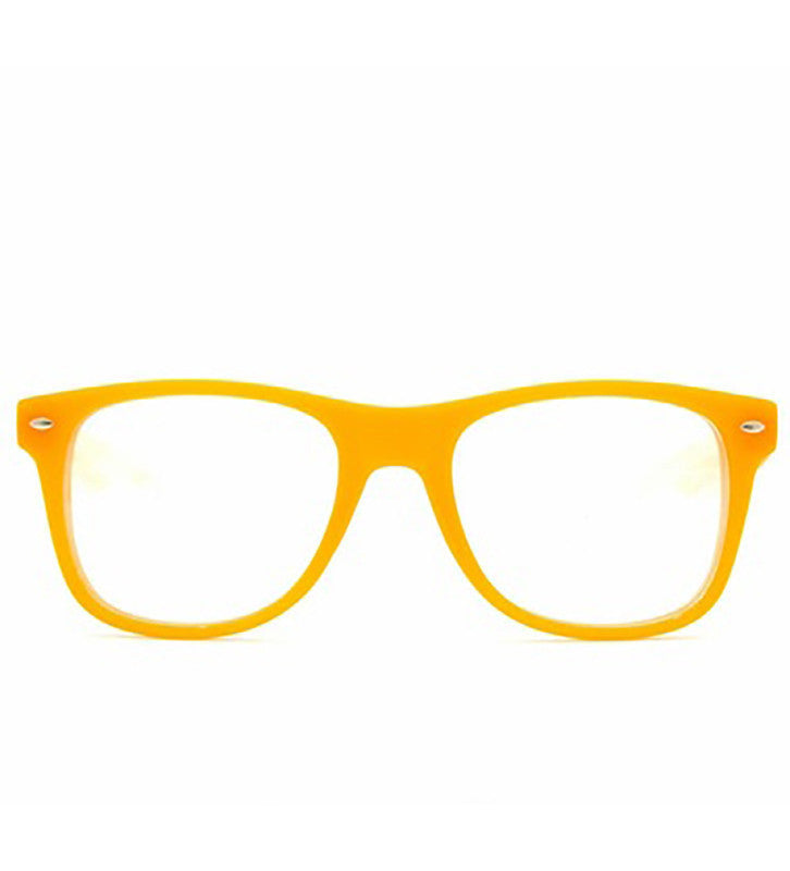 Orange Clear Firework Diffraction Glasses - SuperFried