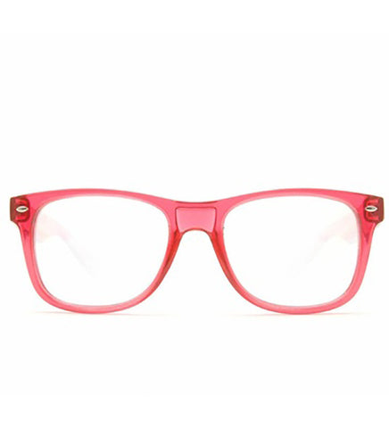 Single Lens - Transparent Red Clear Firework Wayfarer Diffraction Glasses