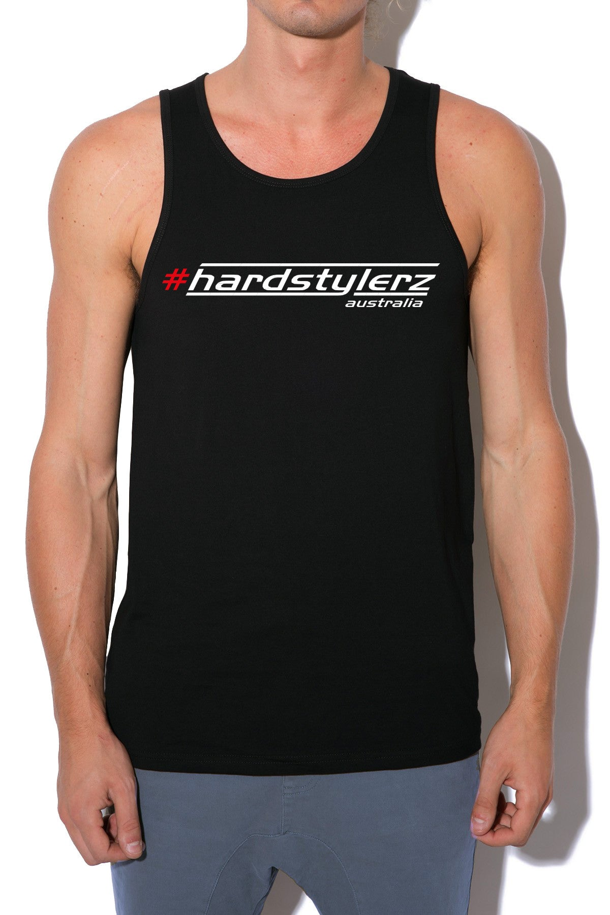 Hardstylerz Men's Black Singlet - SuperFried