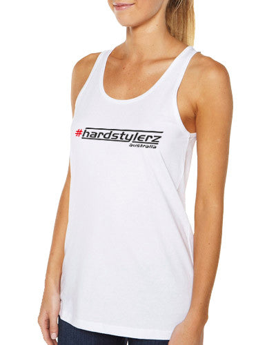 Hardstylerz Women's White Singlet - SuperFried
