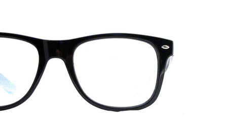 Spiral Lens - Black Clear Spiral Wayfarer Diffraction Glasses