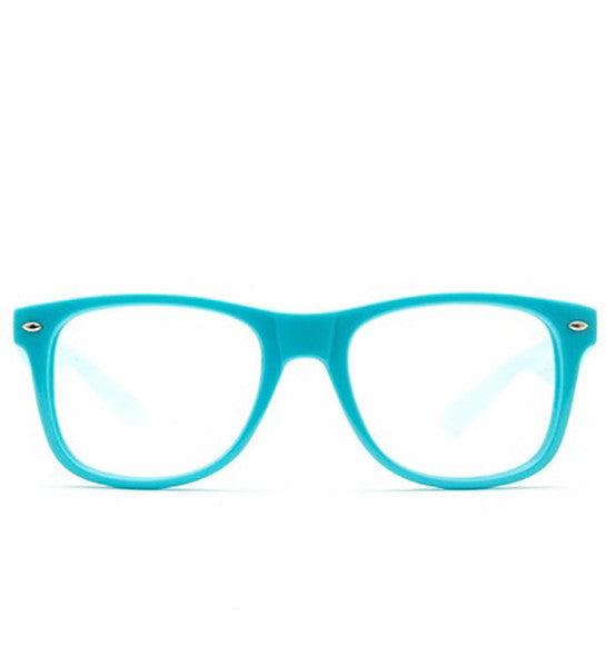 Spiral Lens - Blue Clear Spiral Wayfarer Diffraction Glasses