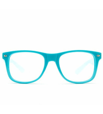 Blue Clear Spiral Diffraction Glasses - SuperFried