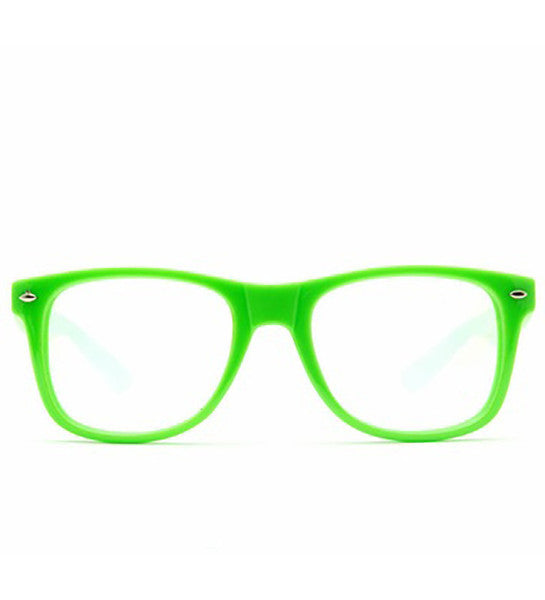 Spiral Lens - Green Clear Spiral Wayfarer Diffraction Glasses