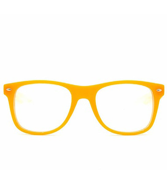 Orange Clear Spiral Diffraction Glasses - SuperFried